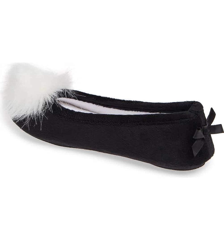Patricia Green Black Ballerina Slipper Size 8 Meghan