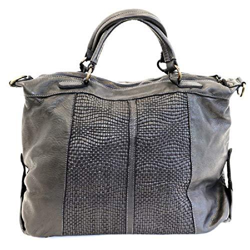 BZNA Bag Emely nero svart Italy Designer dam läderväska handväska axelväska väska läder väska ny