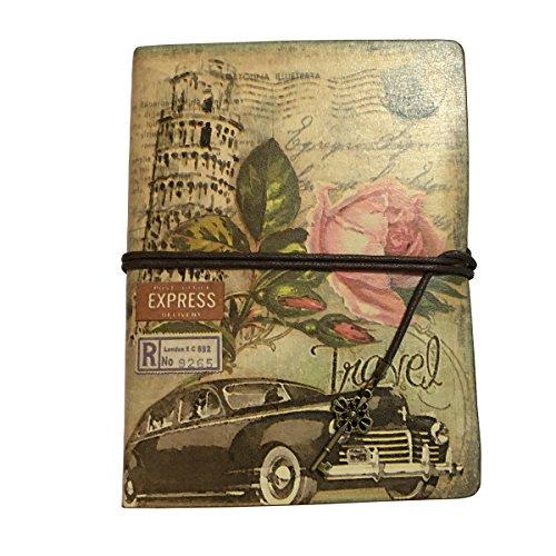 Party Basics Plastic Tumblers (Vintage Travelers Notebook Leather Travel Journal Book Blank Page Kraft Paper Sketchbook Notebooks 2 Ring Binder (Rose))