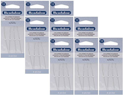 3 PACK Beadalon Collapsible Needles 2 5 Inch