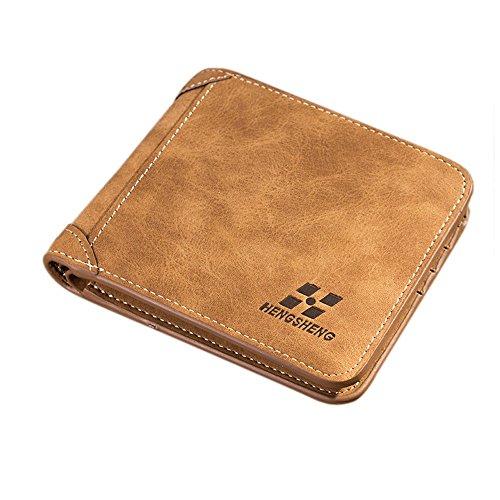 (Men's Trifold Suede Design Leather Wallet (Hengsheng Brown))