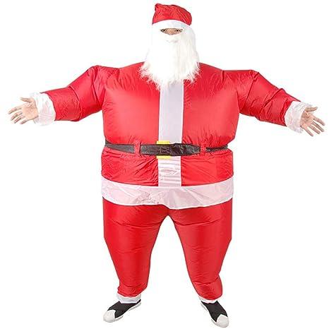DXL Disfraz de Navidad Hinchable para Disfraz de Papá Noel ...