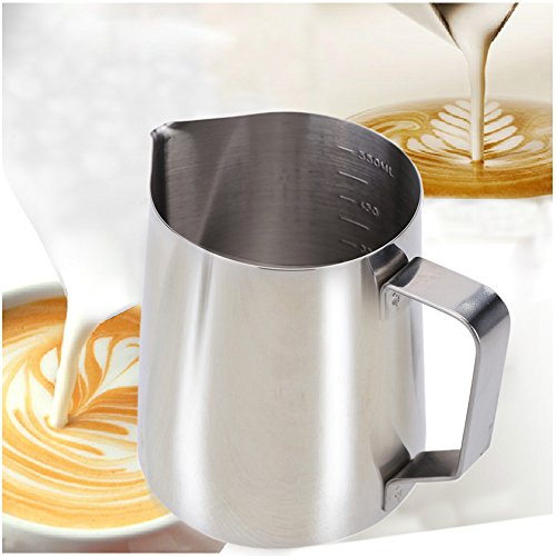 350ml Stainless Steel Dual-use Coffee Makers Milk Frother Pitcher Milk Foam Container Practical Coffee Appliance