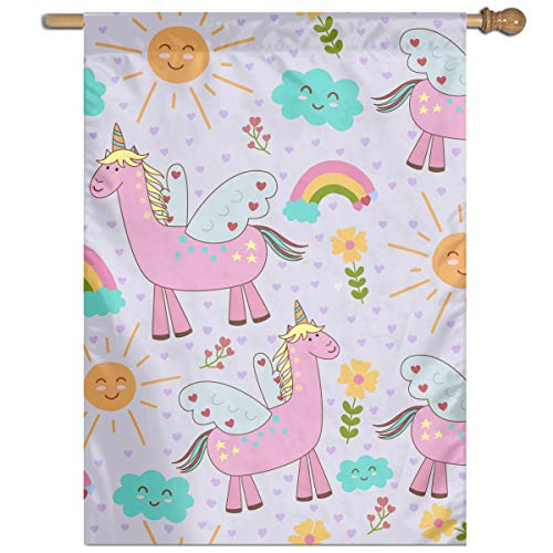 YUANSHAN Single Print Home Garden Flag Llama Pattern Polyester Indoor/Outdoor Wall Banners Decorative Flag 27