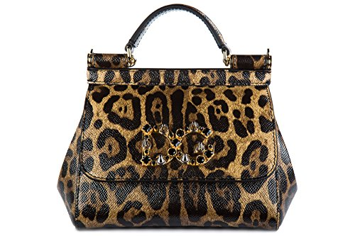 Dolce&Gabbana women's leather shoulder bag original mini sicily dauphine - Dolce Handbags Gabbana 2014 And