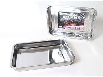 Gerimport Rustidera Allan Acero Inoxidable 36x27cm: Amazon ...
