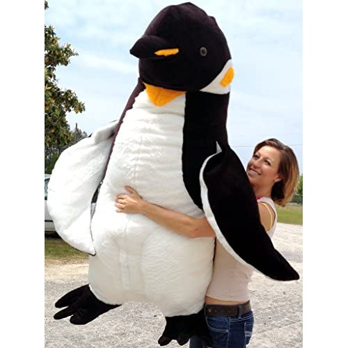American Made Giant 5 Foot Stuffed Penguin Huge Soft Oversized Plush Animal for sale