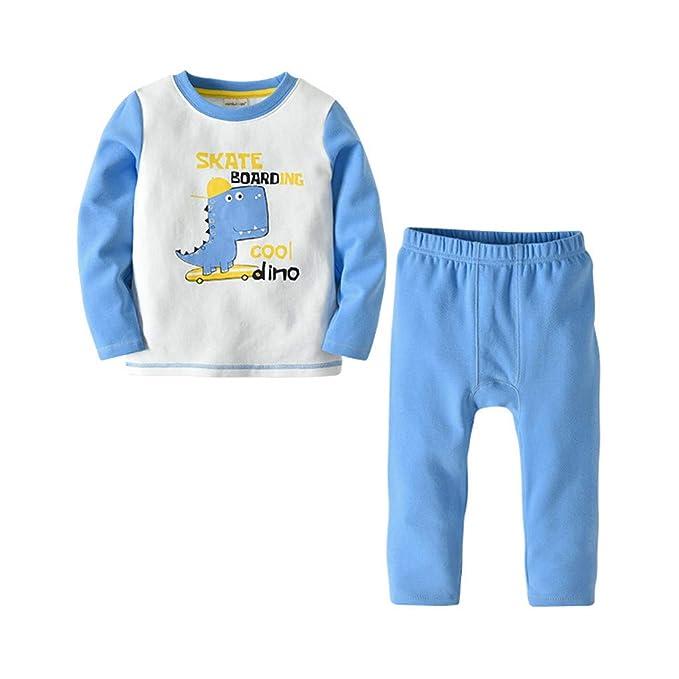 ... niño pequeño bebé niños niñas Pijamas Dibujos Animados Impresos Trajes  de Dinosaurio Ropa de Conjunto Pantalones  Amazon.es  Ropa y accesorios 00e8ac0fb79