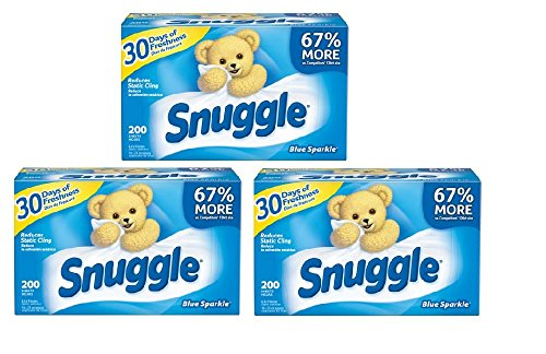 Fabric Softener Dryer Sheets With Fresh Release, 200ct (3) ()