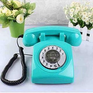 MEICHEN Telefono Retro Antico del Telefono Antico Rotante del Telefono Dell'oggetto D'antiquariato di Basephone del Telefono Antico Rotatorio,Green