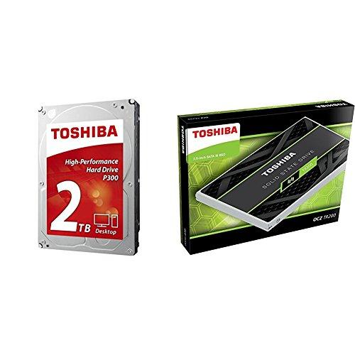 Toshiba 2TB Desktop 7200rpm Internal Hard Drive + Toshiba 2.