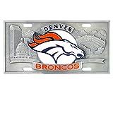 NFL Denver Broncos Collector's License Plate, 12'', Orange
