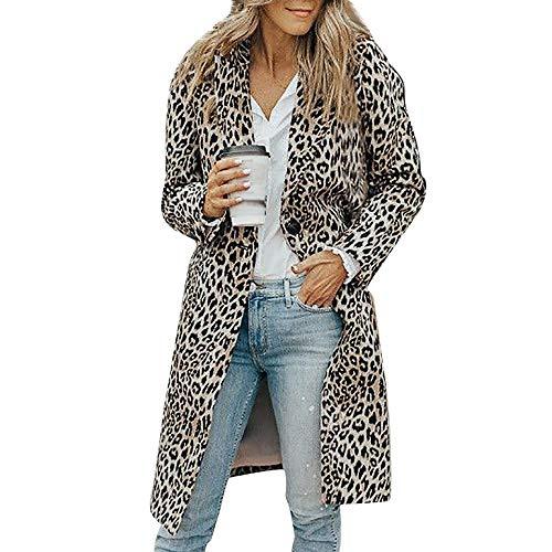 - Leoy88 Womens Long Sleeve Leopard Print Button Fashion Cardigan Coat Tank Tops