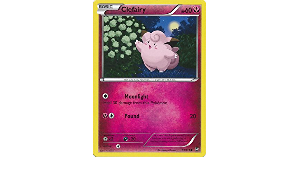 4x Clefairy 69//111 Pokemon card XY Furious Fists common NM