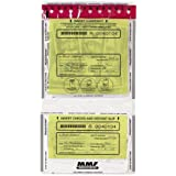 MMF Industries Tamper-Evident Twin Deposit Bags, 9.5 x 17.5 Inches, 100 Bags per Pack, Clear (2362500N20)