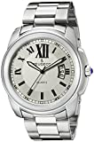 Peugeot Men's 1047S Stainless Steel Analog Display Quartz Silver Watch
