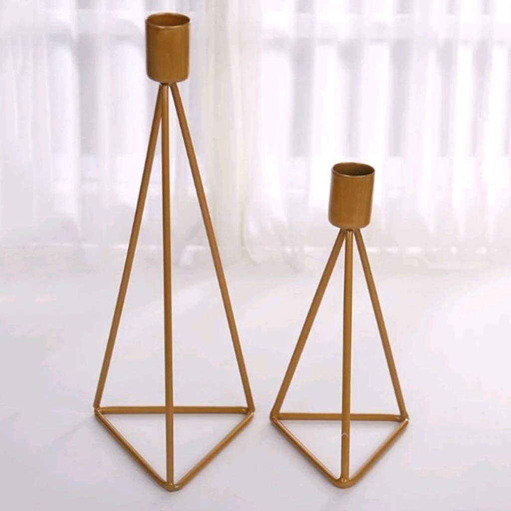FLAMEER Kerzenhalter Kerzenst/änder Leuchter Kerzenleuchter Hochzeit Dekoration Gold S
