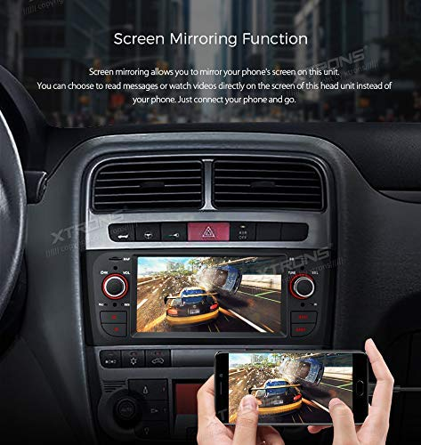 XTRONS Android 8 1 Car Stereo Radio GPS Navigator 6 1 Inch Touch Display  Head Unit Supports WiFi Bluetooth 5 0 USB SD Backup Camera DVR Full RCA