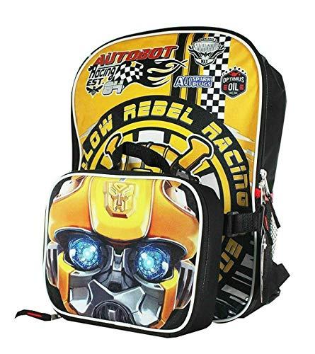 Transformers Bumblebee Boys School Backpack Book Bag Lunch Box SET Kids Autobot]()