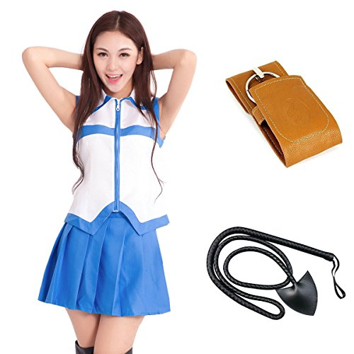 [F&C Anime FAIRY TAIL Cosplay Clothes Lucy Heartphilia Costumes (S)] (Levy Fairy Tail Costume)