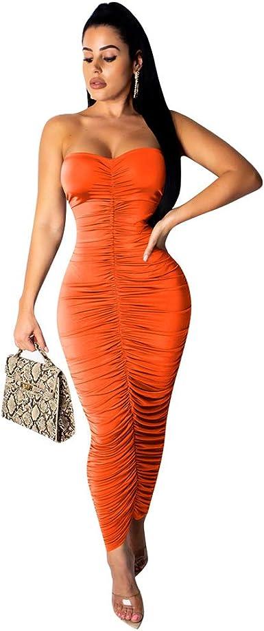 Strapless Tight Gown Marta Bodycon Midi Sleeveless Dress