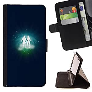 DEVIL CASE - FOR Samsung Galaxy S3 III I9300 - Gemini Twins Zodiac Sign - Style PU Leather Case Wallet Flip Stand Flap Closure Cover