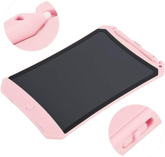 電子タブレットLCDライティングボード、ドローイングパッド、子供向けギフト/家族書道練習算数ドラフトライティングドローイング(Pink)
