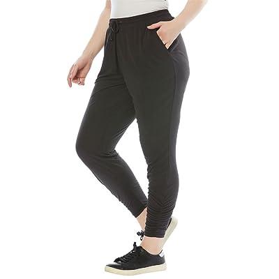 Roamans Women's Plus Size Ruched Joggers