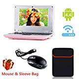 """eForprice 7"""" Mini Notebook Laptop Netbook Android 4.2 4GB Storage VIA 8880 Cortex-A9 1.2ghz Wifi Windows Hd Solid Black Mini Laptop 7 Inch Netbook Notebook Computer Tablet Pc, Installed Wifi and Camera, Watch News, Youtube Facebook Twitter, Supports Netflix, Word/excel/power Point, 2 USB Ports, Sd Card Slot, Hdmi Port to Connect with Tv - Pink"""