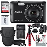 Nikon COOLPIX A300 Digital Camera and Deluxe Bundle w/ Professional 12 Tripod + Xpix Cleaning Kit + 32GB Card & Wallet + Battery & Travel Charger + More