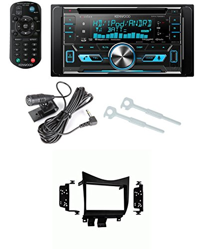Kenwood DPX-792BH Double-DIN Car HD Radio AM/FM USB CD MP3 Stereo 2-DIN Receiver With Metra 95-7862 Double DIN Installation Dash Kit for Honda Accord (Black)