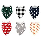 "Baby Bandana Drool Bibs for Boys & Girls 6 Pack ""Forest Friends Set"" by Mumby"