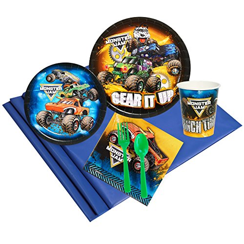 BirthdayExpress Monster Jam Party Supplies - Party Pack for 24 Guests - Grave Digger Birthday
