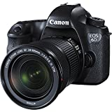 Canon EOS 6D DSLR Camera with Canon EF 24-105mm f/3.5-5.6 IS STM Lens + 120 LED VIDEO LIGHT + Large Monopod + 128GB Memory + Shotgun Microphone + Camera & Flash Grip Handle Stabilizer