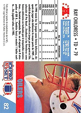 Amazon.com: 1991 Pro Set Spanish Football #82 Ray Childress ...