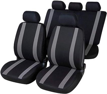 rmg-distribuzione 1801 Coprisedili per Hyundai Santa Fe compatibili con Modelli Colore Nero Grigio 1999-2005