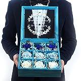 Eternal flower gift box Carnation,Roses,Dried flower glass gift box Creative birthday gifts-F
