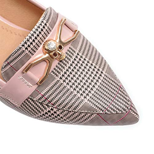 Pink Womens APL10787 Pumps Urethane Charms Casual Shoes Checkered BalaMasa pzWqA8A
