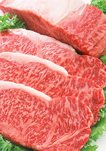 100% A5 Grade Japanese Wagyu Kobe Beef, New York Steaks, 23 Ounce