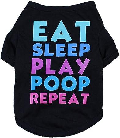 Decdeal Camisa para Perros Camisetas para Mascotas Ropa del Verano Resorte Vestido de Letras Impresas para Animales Domésticos Gatos Perritos: Amazon.es: Hogar
