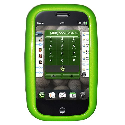 Amzer Polished Snap-On Crystal Hard Case for Palm Pre - Neon Green - Palm Pre Green