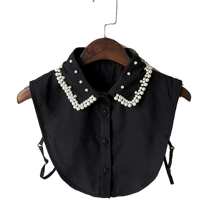 Krageneinsatz Einsatz Kleidung Zubeh/ör Tandou Spitze Kragen Blusenkragen Damen Abnehmbarer