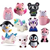WATINC Random 3 Pcs Jumbo Animal Squishy Sweet Scented Vent Charms Slow Rising squishies Kawaii Kid Toy , Lovely Stress Relief Toy, Animals Gift Fun Large