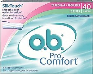 o.b. Pro Comfort Digital Tampons, 40 Count