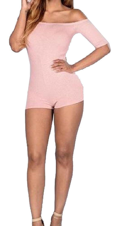 XTX Womens Girls Short Sleeve Stretch Fashion Jumpsuits Romper