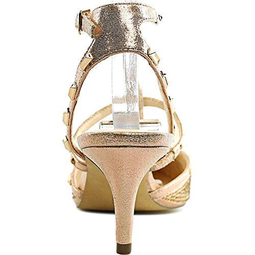 Inc International Concepts Womens Carma2 Tessuto Punta A Punta Cinturino Alla Caviglia. Glitter Oro Rosa