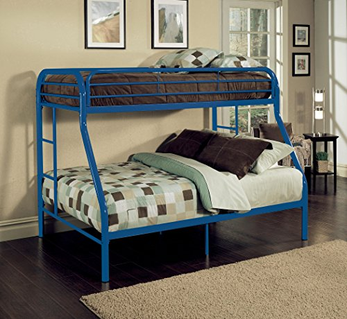 (ACME Tritan Blue Twin over Full Bunk Bed)
