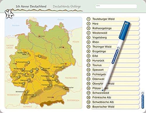 gebirge in deutschland mit karte Ich kenne Deutschland   Deutschlands Gebirge: Für die 3. bis 5