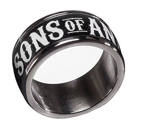 Sons Of Anarchy  Sons Of Anarchy  Black Stainless Steel Ring  10