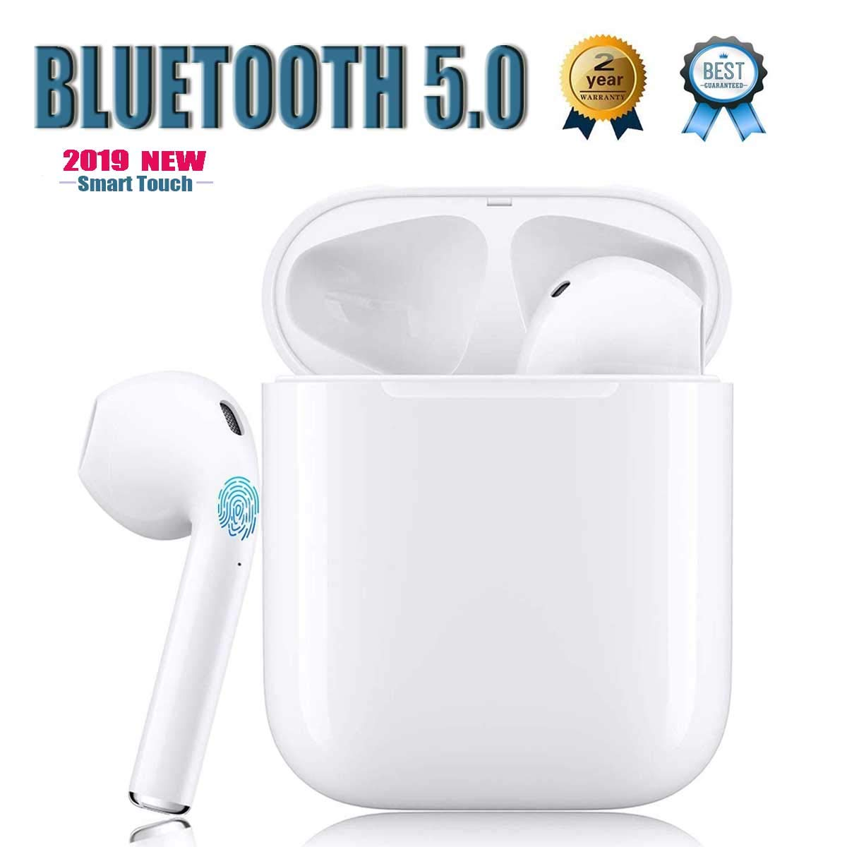 Bluetooth 5.0 wireless Earbuds binaural Smart touch IPX5 waterproof 3D stereo noise canceling with Pop-ups compatible Apple iphone airpod airpods Sports Headset Auto Pairing Fast Charging